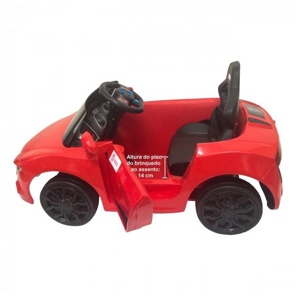 Carro Elétrico Infantil BZ Car com luzes e sons Barzi Motors Brinquedos Elétricos