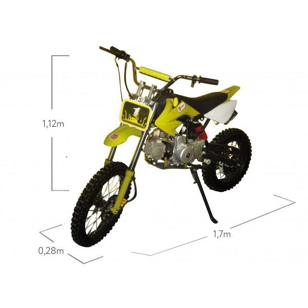 Moto Cross 125cc BZ Terra com partida eletrica Mini Motos
