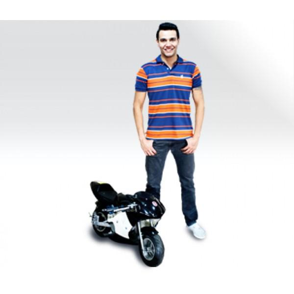 Mini Moto 49cc BZ R3 câmbio automático 2 tempos Mini Motos