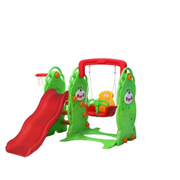 Playground 3x1 Escorregador, Balanço e Cesta de Basquete Playgrounds