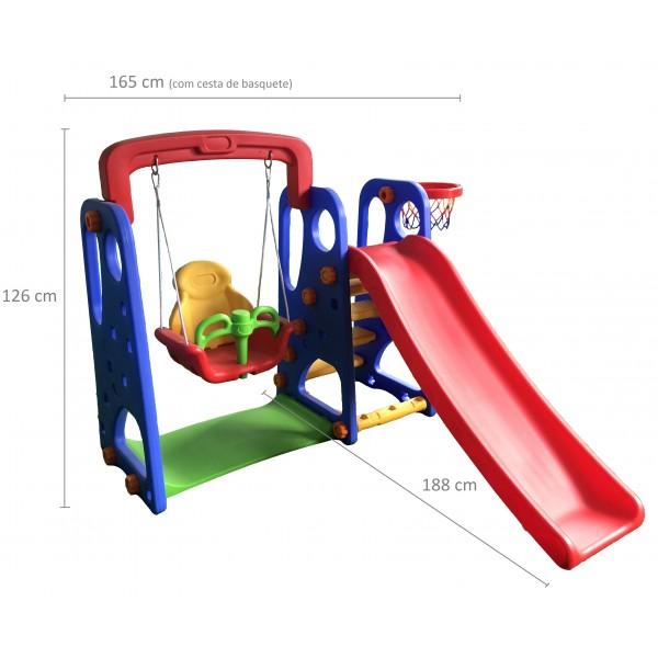 Playground Criança Feliz 3x1 com Escorregador, Balanço